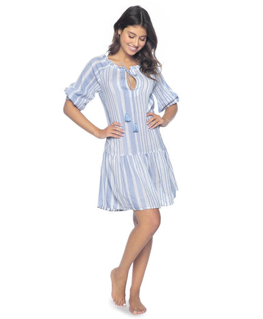 Bay Stripe Bella Tunic - PilyQ