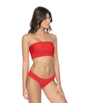 Red Coral Smocked Top Bandeau - PilyQ