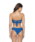 Island Blue Basic Ruched Bottoms - PilyQ