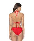Red Coral Basic Ruched Bottoms - PilyQ