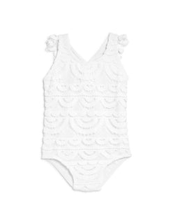 Water Lily Baby Lace White One Piece - PilyQ