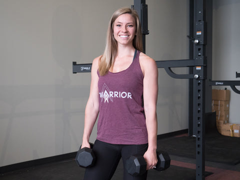 Jen Lowell in Greatness Apparel Warrior tank top