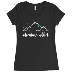 ADVENTURE ADDICT WOMEN'S TSHIRT
