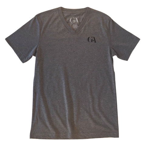 Men's Greatness Grey 'Logo' V-Neck Tee