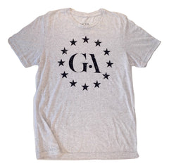 Men's Greatness Light Grey 'Logo Stars' Tee
