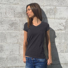 Women's Greatness Black-on-Black 'Logo' Tee
