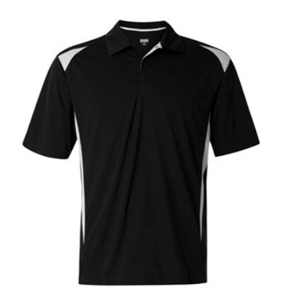 Embroidered Logo-2 tone Augusta Polo- Black or Grey