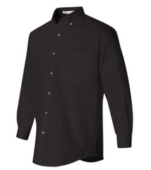 Men's Embroidered Logo Long Sleeve Twill Shirt