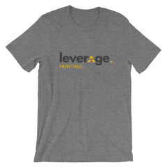 Leverage Printing Black Logo Shirt