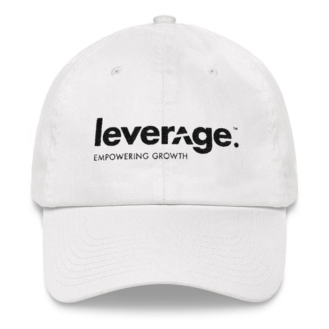 Leverage Empowering Growth White Dad hat