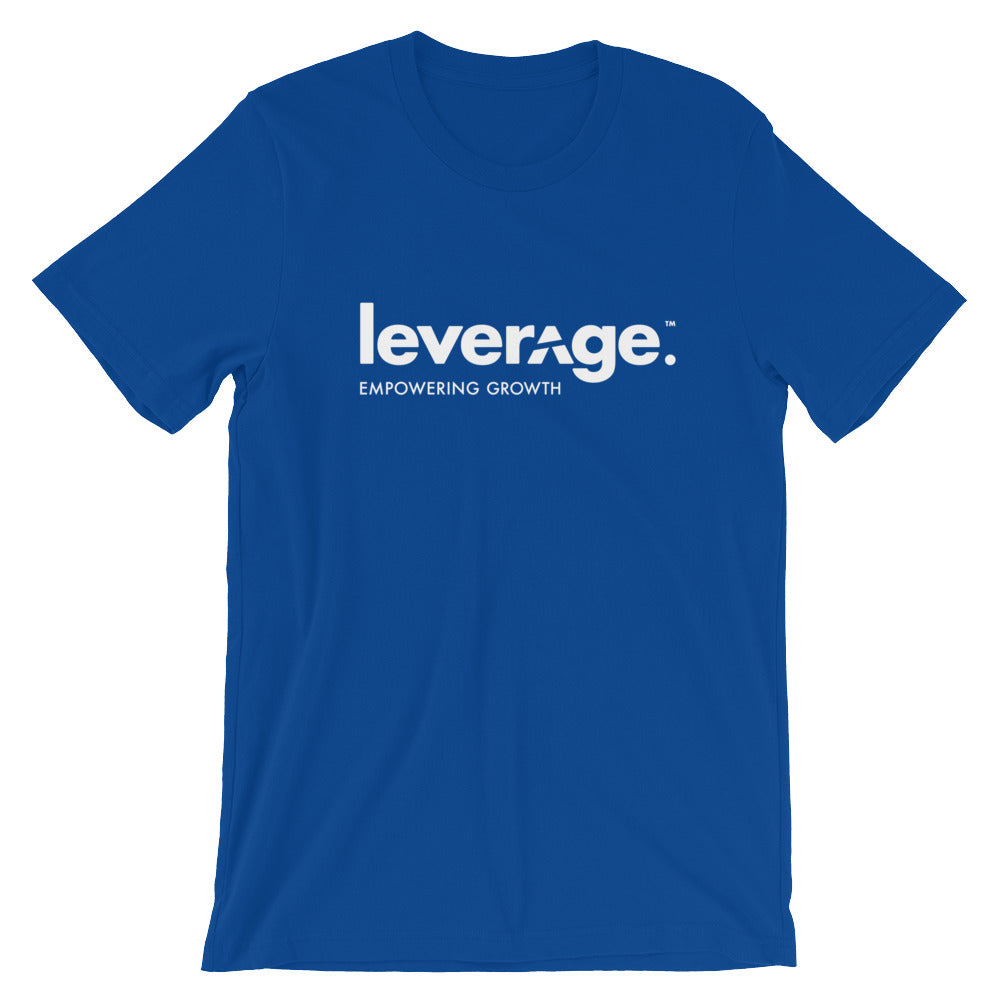Leverage Empowering Growth Tee White Logo