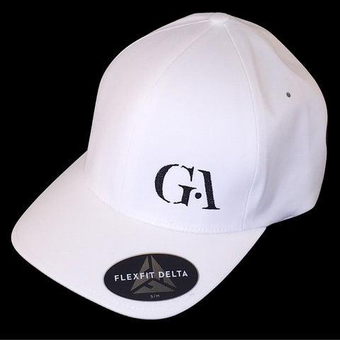 Greatness Flexfit White Delta Seamless Cap