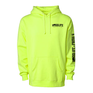 HoggLife Family Hoodie - Neon/Black