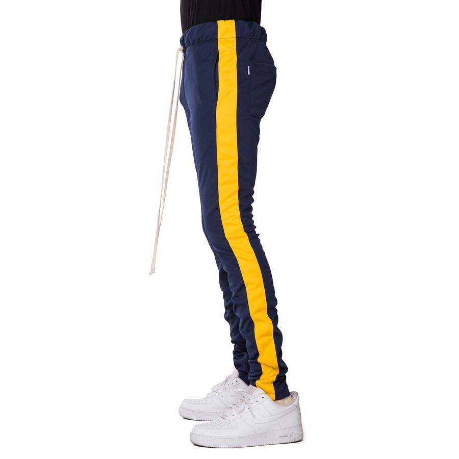 EPTM Techno Track Pants in Navy/Gold