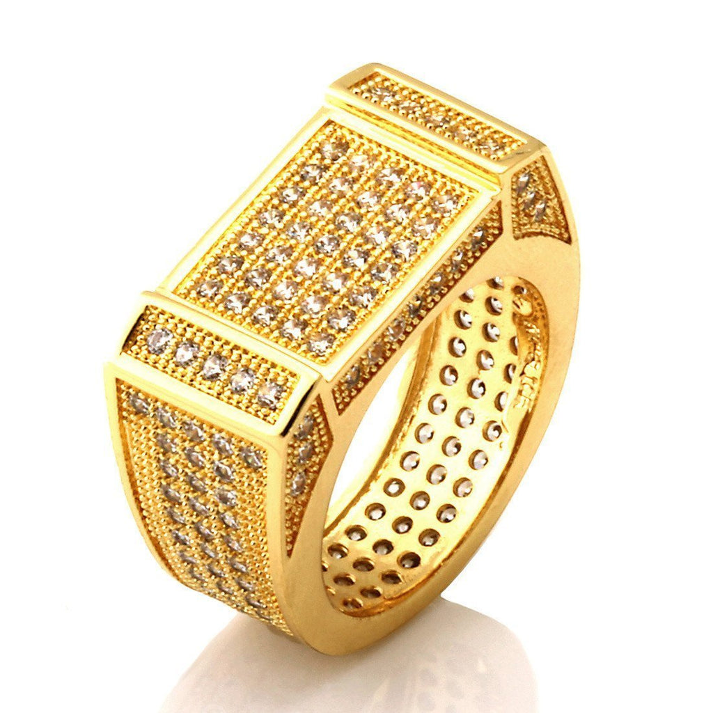 14kt Gold Rectangle CZ Ring