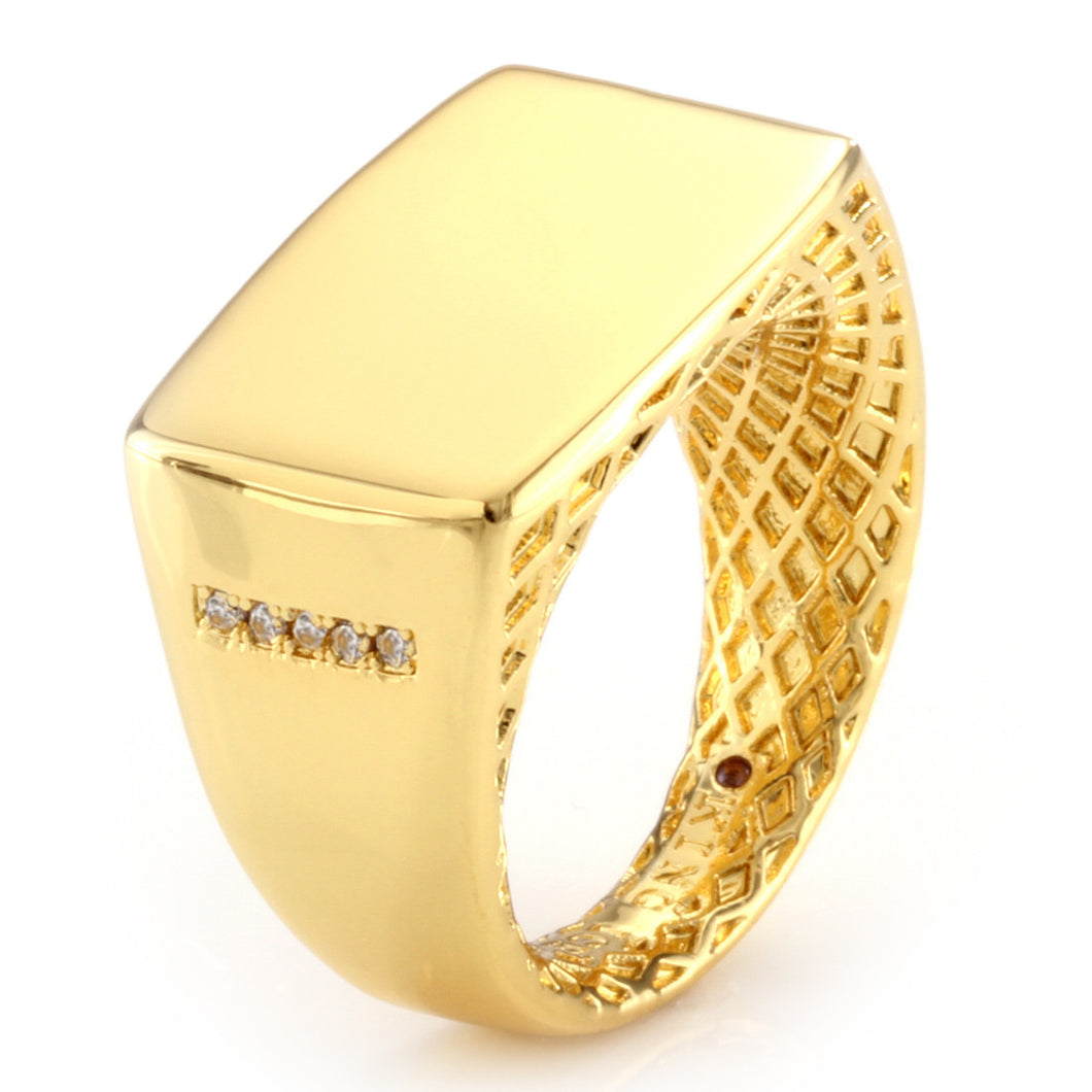 14k Gold Minimalist Ring (Large)