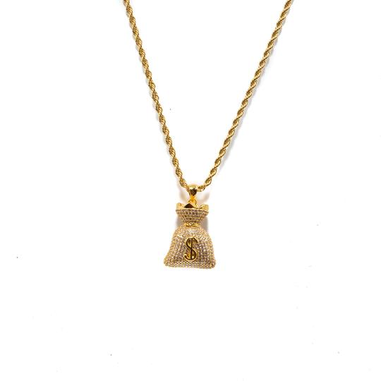 Golden Gilt Money Bag Necklace