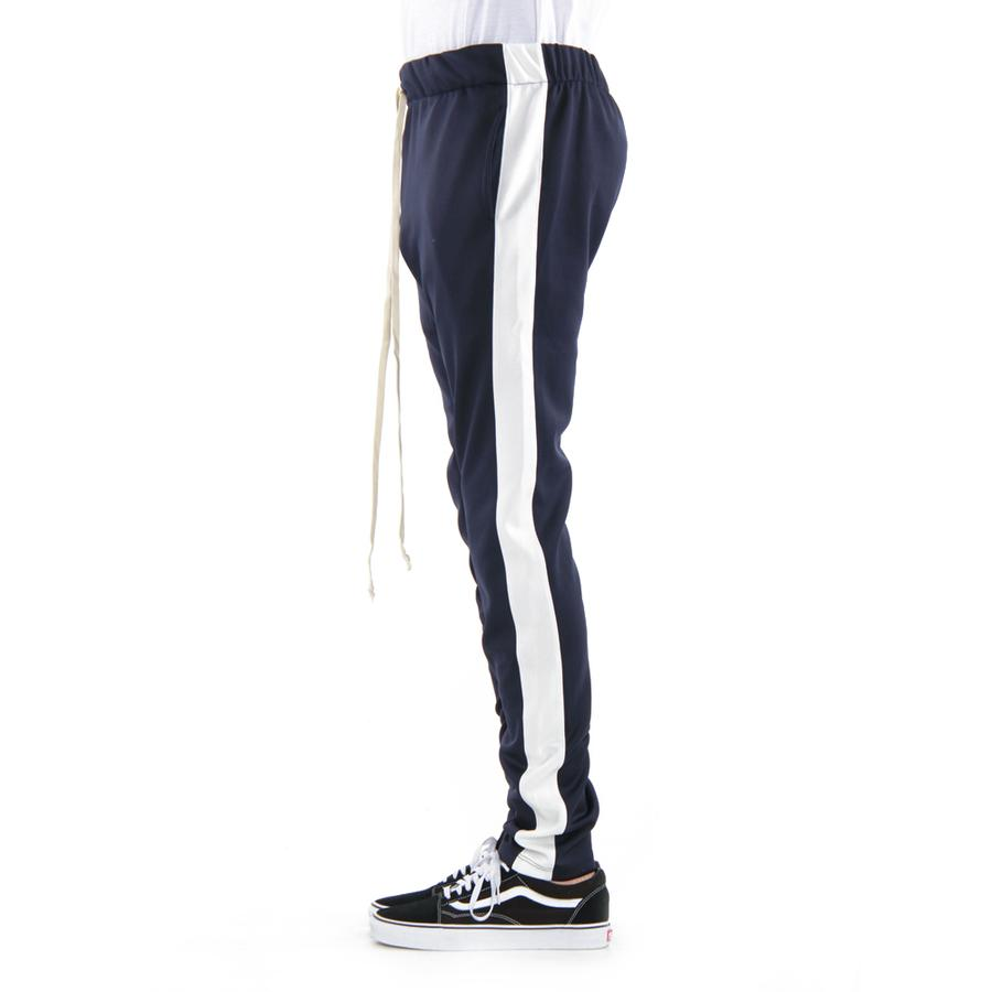 EPTM Techno Track Pants in Navy/Ivory