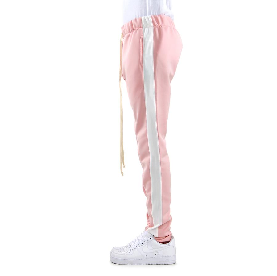 EPTM Techno Track Pants in Dusty Pink/White