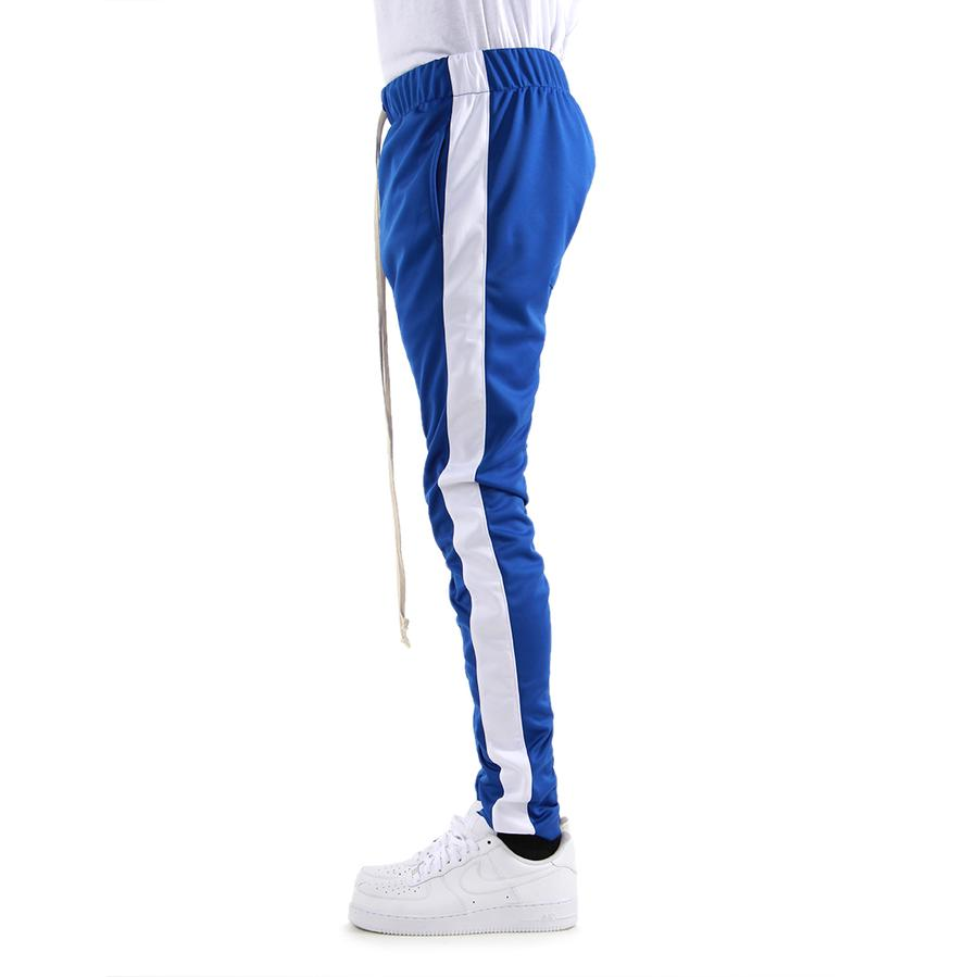 EPTM Techno Track Pants in Blue/White