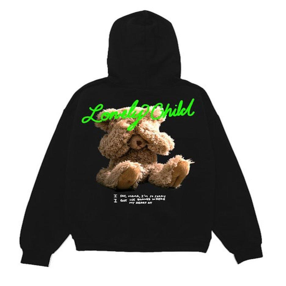 NBA Young Boy Lonely Child Bear Hoodie