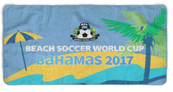 BFA Bahamas Beach Soccer 2017 Official Beach Towel