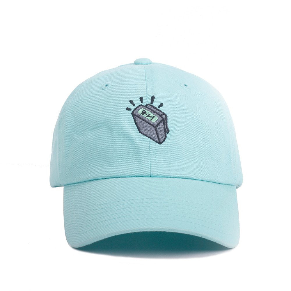 Beeper Dad Hat in Baby Blue