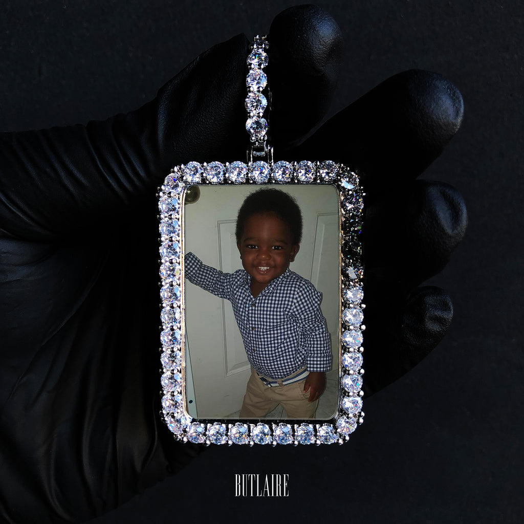 XL Rectangle Custom Photo Pendant
