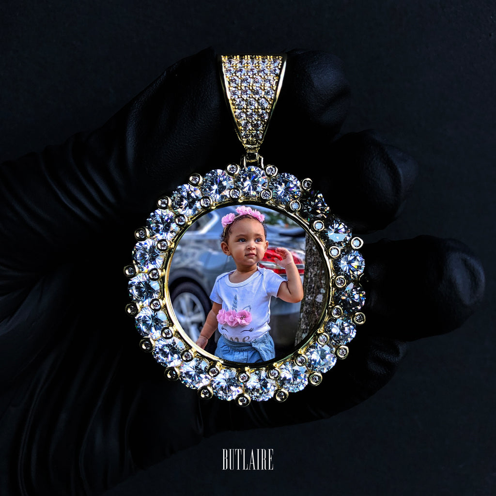 XL Round Custom Photo Pendant