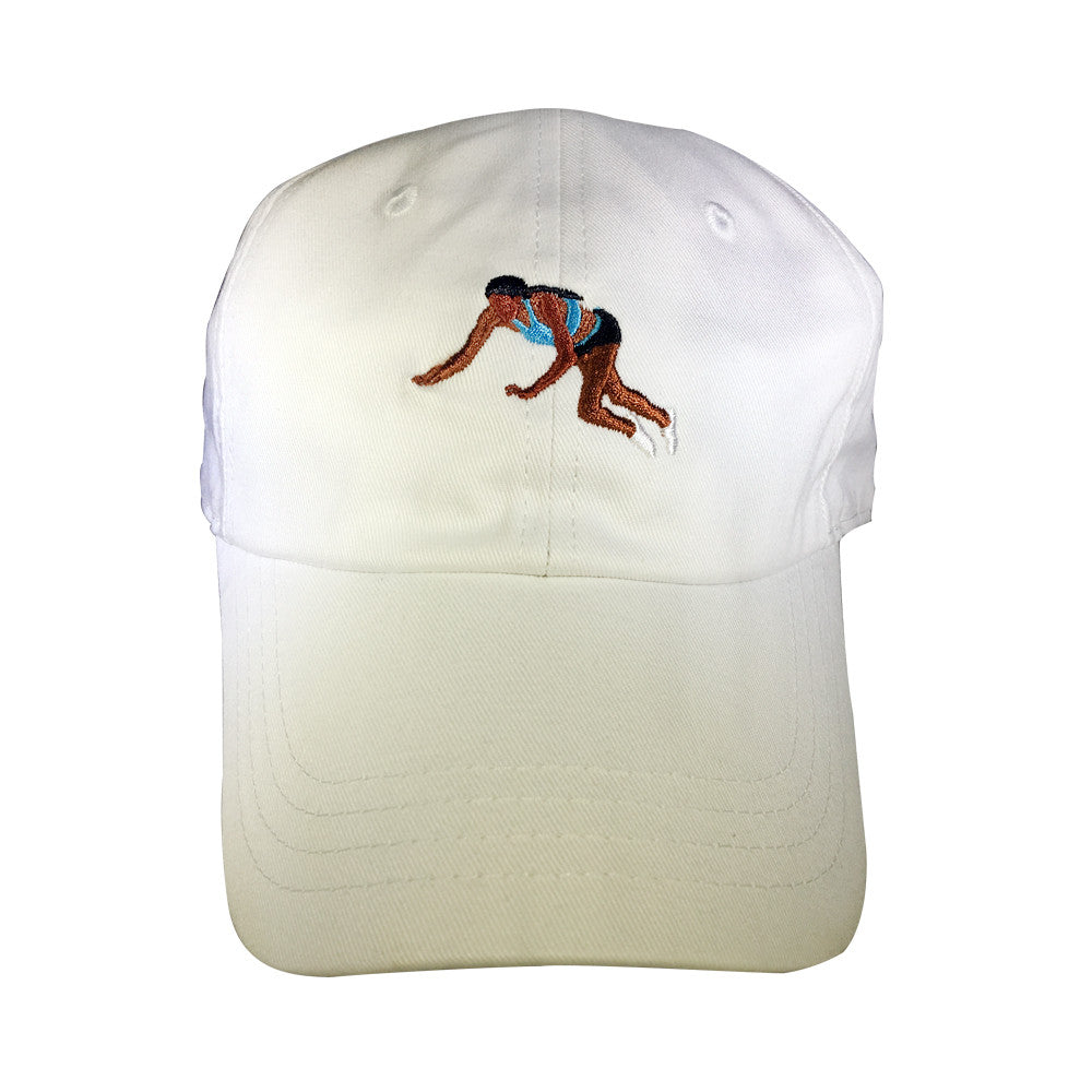 YNG Dive for Gold Dad Hat in White