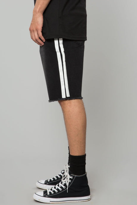 Elwood Washed Black Denim Track Short
