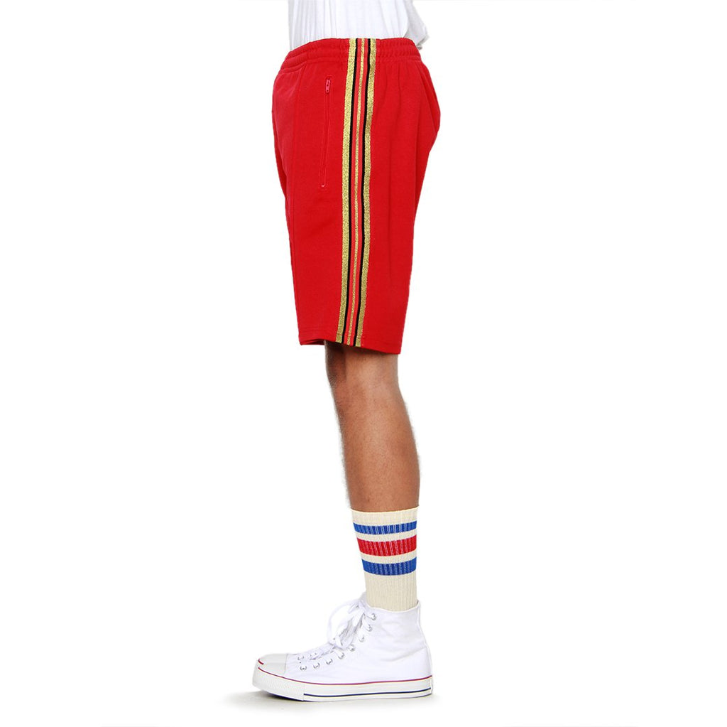 EPTM Olympic Track Shorts in Red