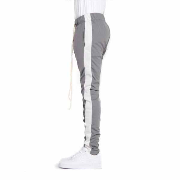 EPTM Techno Track Pants in Gray/White