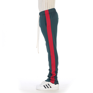 EPTM Techno Track Pants in Green/Red