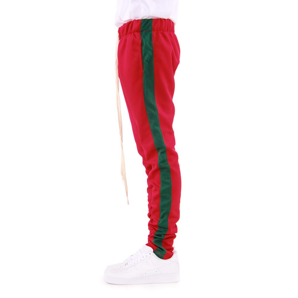 EPTM Techno Track Pants in Red/Green