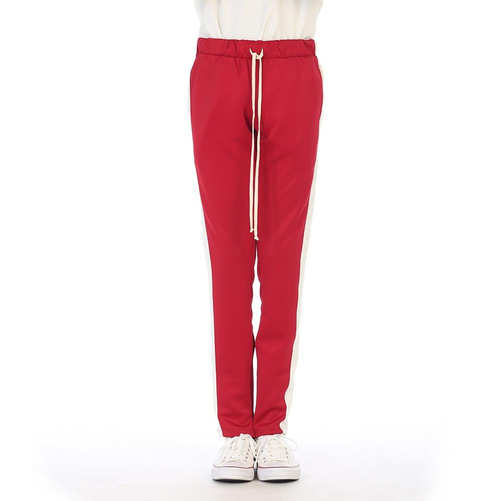 EPTM Techno Track Pants in Red/White