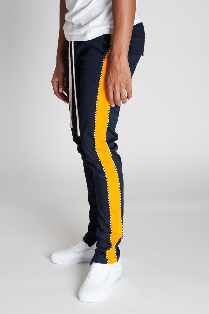 KDNK Striped Track Pants w/ Ankle Zip v.2.0