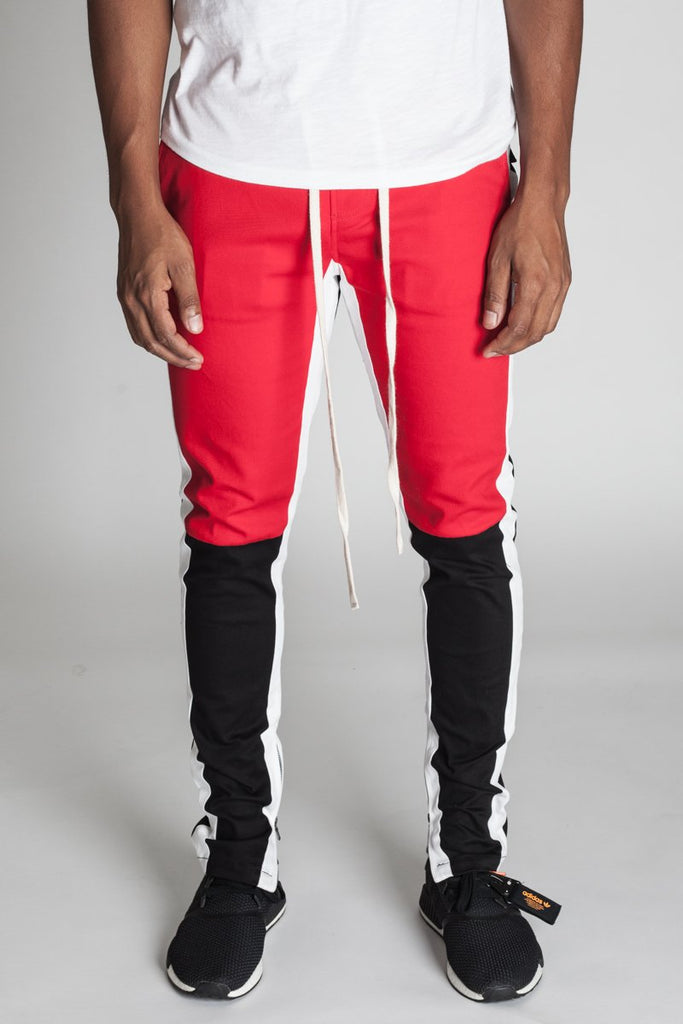 KDNK Cotton Twill Colorblocked Track Pants