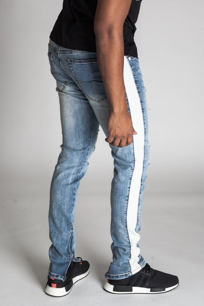 KDNK Striped Track Jeans