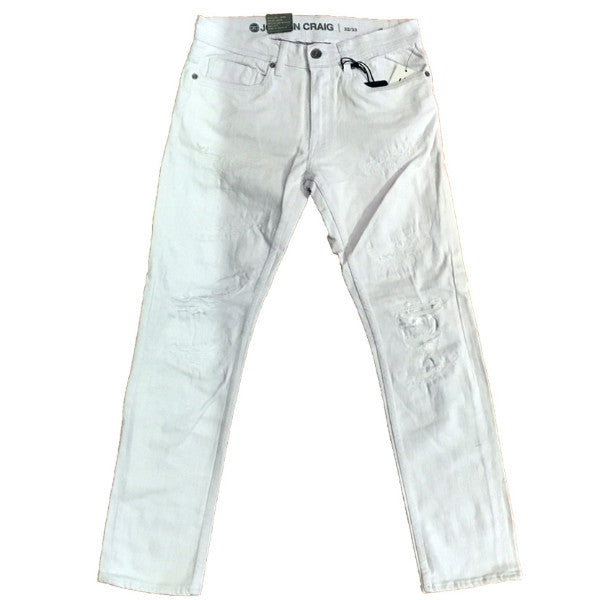 JC White Distressed Denim