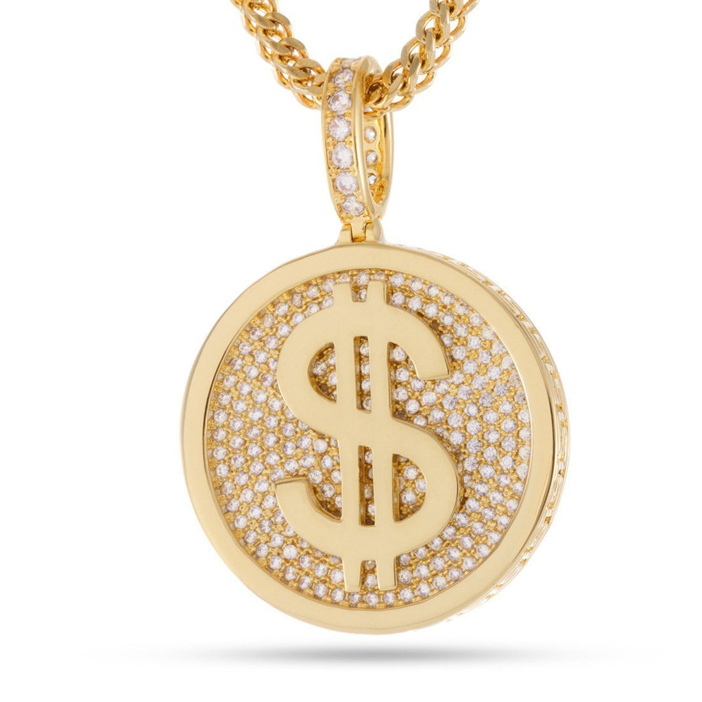 The 14kt Gold Fortune Coin Necklace Money