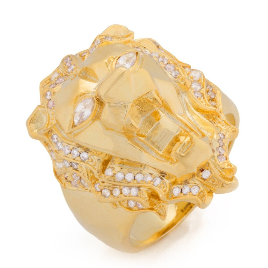 The Faceted Lion Ring