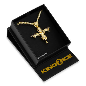 The Dual Uzi Angel Necklace