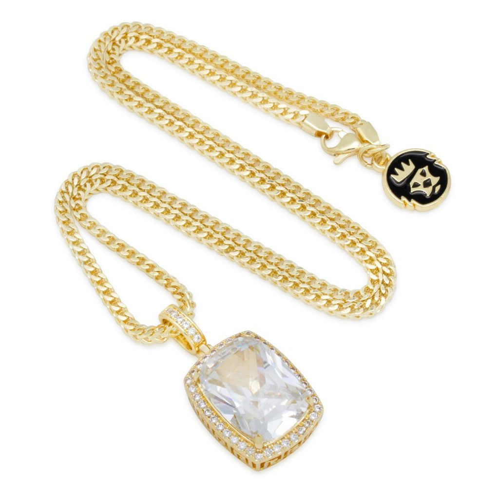 King Ice 14kt Rare Stone Gold Crown Julz