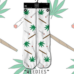 Odd Sox Weedies (White) Socks