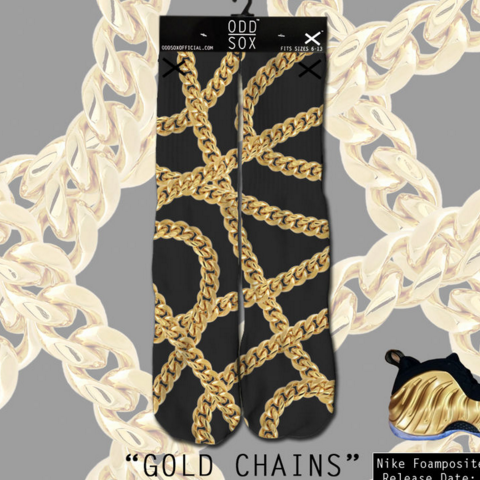 Odd Sox Gold Chains Socks