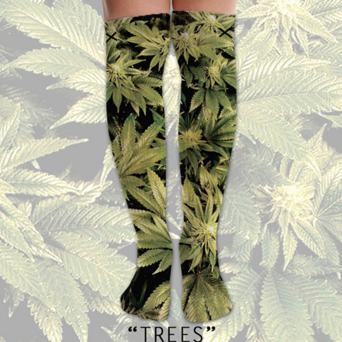 Odd Sox Trees Knee High Socks
