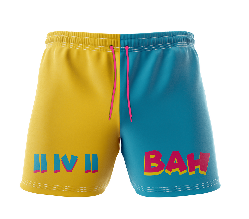 BAH Split Two Tone Swim Shorts