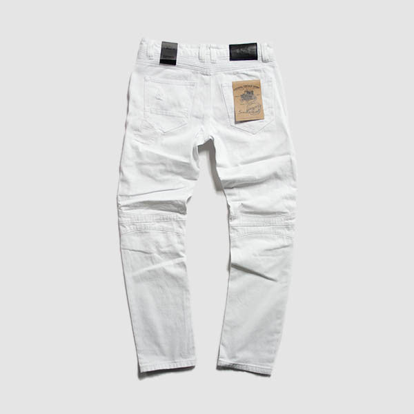 SR Mens Twill Pant w/ Heavy Rip & Repair in White