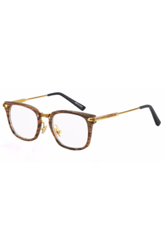 Stinson Clear Brown Wood Sunglasses